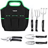 TomCare Garden Tools Set 7 Piece Gardening Tools Gardening kit Tool Sets with Heavy Duty Pruning Shears Comfortable Non-Slip Handle and Durable Storage Tote Bag - Garden Gifts for Gardeners Men Women Photo, new 2020, best price $24.99 review