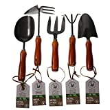 Unity 5-Piece Premium Medium Duty Garden Tool Set - Ergonomic Wooden Handles - Anti-Rust - Strong And Durable - Garden Tested Photo, new 2020, best price $13.97 review