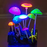 Govine Aquarium Decorations,Glowing Artificial Mushroom, Plastic Aquarium Ornament Decorations for Fish Tank Decorations Photo, new 2020, best price $8.89 review