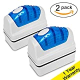 DaToo Aquarium Cleaner Fish Tank Glass Cleaner Algae Cleaner Scraper Magnetic Scrubber Algae Clean Brush, 2 Pcs, 1 Yr Warranty Photo, new 2020, best price $10.99 review