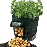 ASOON 2-Pack 7 Gallon Garden Potato Grow Bag Vegetables Planter Bags with Handles and Access Flap for Potato, Carrot & Onion Photo, new 2020, best price  review