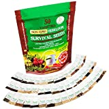 Heirloom Vegetable Seeds Non GMO Survival Seed Kit - Part of Our Legacy and Heritage - 50 Varieties 100% Naturally Grown- Best For Gardeners Who Raise Their Own Healthy Food Photo, new 2019, best price $17.99 review
