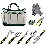 9Pcs Garden Tool Sets-a Plant Rope,Soft Gloves,6 Ergonomic Gardening Tools and a Garden Tote Photo, new 2018, best price $89.99 review