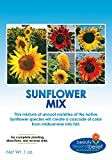 Sunflower Wildflower Seeds Mix Bulk + 8 BONUS Gardening eBooks, Open-Pollinated Wildflower Seed Mix Packets, Non-GMO, No Fillers, Annual, Perennial Wildflower Seeds, Year Round Planting - 1 oz Photo, new 2019, best price $6.95 review