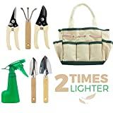 GardenHOME Indoor 7-Piece Stainless Steel Garden Tool with Garden Tote Set, 3 Tools, 2 Pruners, 1 Sprayer Photo, new 2018, best price $9.99 review