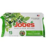 Jobe's Tree Fertilizer Spikes, 16-4-4 Time Release Fertilizer for All Shrubs & Trees, 15 Spikes per Package Photo, new 2018, best price $9.97 review