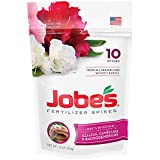 Jobe's Fertilizer Spikes for Azalea, Camellia and Rhododendron, 9-8-7 Time Release Fertilizer for Acid Loving Plants, 10 Spikes per Package Photo, new 2018, best price $9.11 review
