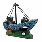 LIAMTU Aquarium Fish Tank Decoration Boat Resin Plastic Plant Decor Perfect for 10 Gallon Miniature Tank Photo, new 2020, best price $9.99 review