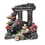 Evergreen Simulation Resin Roman Column Aquarium Decorations Fish Tank Rock Ruins Plants Decor Aquarium Decoration Ornaments Photo, new 2020, best price $39.99 review