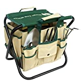Wings and Water 7 Piece Garden Tool Set, All-In-One Tool Bag, Durable Folding Stool, Stainless Steel Photo, new 2018, best price  review
