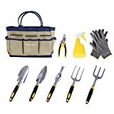 SONGMICS 9 Piece Garden Tool Set Includes Garden Tote and 6 Hand Tools Heavy Duty Cast-aluminum Heads Ergonomic Handles UGGB31L Photo, new 2018, best price $32.39 review