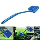 Petacc Double-sided Fish Tank Cleaner Sponge Cleaning Brush Portable Scraper Practical Scrubber with Non-slip Handle, Suitable for Cleaning Fish Tank (Blue) Photo, new 2019, best price $9.99 review