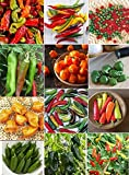 David's Garden Seeds Pepper Hot Seed Collection HP923 (Multi) 12 Varieties 500 Plus Seeds (Open Pollinated, Heirloom, Organic) Photo, new 2018, best price $23.99 review
