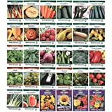 Heirloom Seed Assortment – Collection of 30 Non-GMO, Easy Grow, Gardening Seeds: Vegetable, Fruit, Herb & Flower – Open Pollinated – Radish, Pumpkin, Dill, Eggplant, Sunflower, More Photo, new 2018, best price $29.99 review