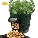 Amerzam 2-Pack 7 Gallon Garden Potato Grow Bag Vegetables Planter Bags with Handles and Access Flap for Grow Vegetables: Potato, Carrot & Onion Photo, new 2017, best price $19.99 review