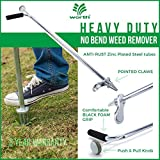"Worth Garden Stand-Up Weeder And Root Removal Tool - Ergonomic Weed Puller With A 33"" Tall Handle And Foot Pedal - Easy Weed Grabber Made From Rust-Resistant Steel - 3 Year Warranty Photo, new 2019, best price $32.99 review"