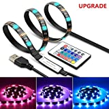LED Strip Light TV Bias Backlight Kit IP65 Waterproof Accent RGB Monitor Lighting Strip with Remote Control -16 Colors USB Powered 60 Leds for HDTV Desktop PC Fish Tank Decorations (2 Meters-6.6 ft) Photo, new 2019, best price $9.96 review