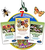 Wildflower Seeds Bulk + 7 BONUS Gardening eBooks + Open-Pollinated Wildflower Seeds, 1oz Packets, Non-GMO, No Fillers, Annual, Perennial Wildflower Seeds Year Round Planting, Bees Pollinators Photo, new 2018, best price $17.50 review