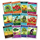 Heirloom Culinary Vegetable Seeds (12 pack) – Eggplant, Bell Pepper, Yellow Tomato, Cherry Tomatoes, Snap Peas, Squash, Zucchini, Spinach, Bush Beans, Beets, Broccoli, Lettuce - Zziggysgal Photo, new 2020, best price $19.99 review