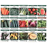 Heirloom Vegetable Garden Seed Collection – Assortment of 15 Non-GMO, Easy Grow, Gardening Seeds: Carrot, Onion, Tomato, Pea, More Photo, new 2018, best price  review