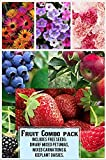 Fruit Combo Pack Raspberry, Blackberry, Blueberry, Strawberry, Apple (Organic) 525+ Seeds 658921943359 Free 3 Flower Packs Photo, new 2019, best price $7.14 review