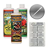 Fox Farm Liquid Nutrient Trio Soil Formula: Big Bloom, Grow Big, Tiger Bloom (Pack of 3 - 16 oz. bottles) 1 Pint Each + Twin Canaries Chart & Pipette Photo, new 2019, best price $27.95 review