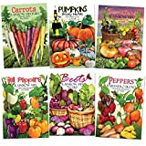 Rainbow Vegetable Seed Collection (35+ Varieties of Carrots, Peppers, Pumpkins, Tomatoes & Beets!) Non-GMO Seeds by Seed Needs Photo, new 2019, best price $22.10 review