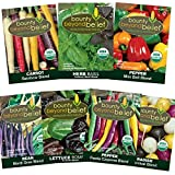Festive Certified Organic Heirloom Vegetable Garden Seed Kit - Bonus 7 eBook Gardening Series - Pepper, Carrot, Basil, Bean, Lettuce, Radish - No GMO, Non GE, No Fillers, Open Pollinated Photo, new 2018, best price $10.95 review