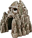 Exotic Environments Skull Mountain Aquarium Ornament, Small, 5-1/2-Inch by 6-Inch by 6-Inch Photo, new 2019, best price $16.99 review